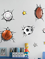 cheap -3D A lot of Balls Broken Wall Sticker Football Basketball Home Decals Window Stickers Boys Room Living Room Sports Decor Mural