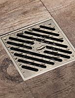 cheap -Square 10x10cm Antique Brass Bathroom Shower Anti Odor Floor Drain