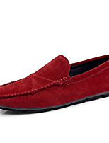 cheap -Men's Moccasin Pigskin Spring & Summer / Fall & Winter British Loafers & Slip-Ons Non-slipping Black / Brown / Wine