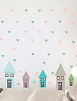 cheap -Decorative Wall Stickers - Plane Wall Stickers Houses / Hearts Nursery / Kids Room