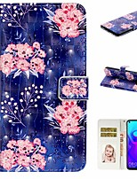 cheap -Case For Huawei Honor 10 Lite /Honor 7A / Mate 10 lite Wallet / Card Holder / with Stand Full Body Cases Flower PU Leather For Huawei Mate 20 lite/Y6 2018/Mate 30 lite/Mate 30 Pro/Mate 30/Mate 20 Pro