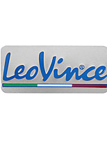 cheap -3D Aluminum Heat-resistant Motorcycle Exhaust Pipe Decal Sticker for LeoVince 5PCS Whole Sale