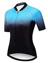 cheap -21Grams Men's Short Sleeve Cycling Jersey 100% Polyester Orange Green Blue Geometic Bike Jersey Top Mountain Bike MTB Road Bike Cycling UV Resistant Breathable Quick Dry Sports Clothing Apparel