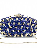 cheap -Women's Crystals / Hollow-out Alloy Evening Bag Solid Color Royal Blue