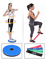"cheap -Exercise Resistance Bands 5 pcs 9 7/8"" (25 cm) Diameter Sports Mixed Material Yoga Fitness Workout Stability Weight Loss Tummy Fat Burner Resistance Training For Men's Women's Shoulder Waist & Back"