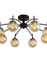 cheap -feimiao 8-Light Industrial Flush Mount Lights Ambient Light Painted Finishes Metal Glass New Design 110-120V / 220-240V