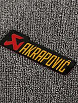 cheap -3D Aluminum Heat-resistant Motorcycle Exhaust Pipe Decal Sticker for AKRAPOVIC 5PCS Whole Sale