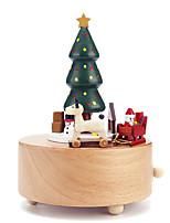abordables -Boîte à musique Vacances Rétro Créatif En bois 1 pcs Enfant Tous Jouet Cadeau