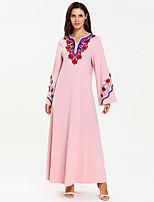 cheap -Adults' Women's Abaya Dress For Party Cotton Embroidered Halloween Carnival Masquerade Dress