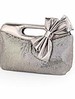 cheap -Women's Beading / Flower Alloy Evening Bag Solid Color Sillver Gray