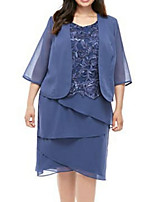 cheap -3/4 Length Sleeve Coats / Jackets Chiffon Wedding Women's Wrap With Solid