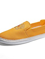 cheap -Men's Comfort Shoes Canvas Spring & Summer Casual Loafers & Slip-Ons Black / Yellow / Gray