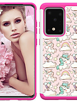 cheap -Case For Samsung Galaxy Galaxy S10 / Galaxy S10 Plus / Galaxy S10 E Shockproof / Pattern Back Cover Animal TPU / PC