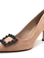 abordables -Femme Chaussures à Talons Talon Aiguille Bout pointu Matière synthétique Doux / Britanique Automne / Printemps été Noir / Amande / Rouge / Soirée & Evénement