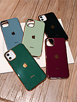 cheap -Case For Apple iPhone 11 / iPhone 11 Pro / iPhone 11 Pro Max Shockproof / Ultra-thin Back Cover Playing with Apple Logo / Solid Colored TPU