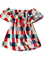 cheap -Toddler Girls' Patchwork Dress Rainbow