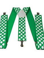 cheap -Kiss Irish Green Velour Party Cosplay ST Patrick's day Pride Costume suspender
