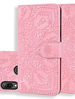 cheap -Case For Huawei Honor 8A /Honor 7X / Mate 10 lite Wallet /Card Holder / Embossed Full Body Cases Solid Colored / Flower PU Leather For Huawei Mate 20 Pro/Mate 20 Lite/Y6 Pro 2019/Y7 Prime 2019/Y9 2019