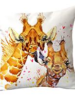 cheap -1 pcs Polyester Pillow Cover Cute Pet Cartoon Animal Dog Pillow Cover Sofa Car Cushion Cover Animal Home Pillow Cover Without Core