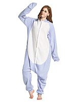 cheap -Adults' Kigurumi Pajamas Shark Onesie Pajamas Flannelette Light Blue Cosplay For Men and Women Animal Sleepwear Cartoon Festival / Holiday Costumes