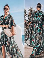 cheap -Gypsy Adults' Women's Bohemian Boho Dress For Party Chiffon 3D Print Halloween Carnival Dress
