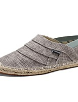 cheap -Men's Comfort Shoes Linen Spring & Summer Casual Loafers & Slip-Ons Dark Grey / Light Grey / Khaki