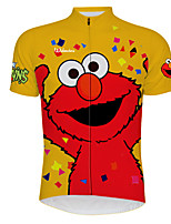 cheap -21Grams Men's Short Sleeve Cycling Jersey 100% Polyester Red / Yellow Cartoon Bird Bike Jersey Top Mountain Bike MTB Road Bike Cycling UV Resistant Breathable Quick Dry Sports Clothing Apparel