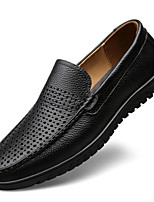 cheap -Men's Moccasin Nappa Leather Fall / Spring & Summer Casual / British Loafers & Slip-Ons Non-slipping Black / Brown