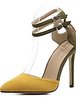 cheap -Women's Heels Stiletto Heel Pointed Toe Synthetics Sweet / Minimalism Fall / Spring & Summer Black / Yellow / Party & Evening