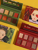 cheap -8 Colors Eyeshadow Eyeshadow Palette Matte Cosmetic EyeShadow Face Easy to Carry Women Best Quality Pro Ultra Light (UL) Girlfriend Gift Safety Convenient Daily Makeup Halloween Makeup Party Makeup