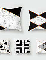 cheap -5 pcs Throw Pillow Simple Classic 45*45 cmBlack and White Car LUMBAR PILLOW SOFA pillow cover