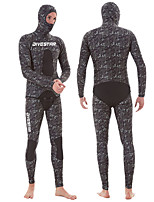 cheap -DIVESTAR Men's Full Wetsuit 5mm SCR Neoprene Diving Suit Thermal / Warm Quick Dry Stretchy Long Sleeve 2-Piece - Diving Water Sports Camo / Camouflage Autumn / Fall Spring Summer / High Elasticity
