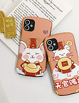cheap -Case For Apple iPhone 11 / iPhone 11 Pro / iPhone 11 Pro Max Shockproof / Ultra-thin / Pattern Back Cover Word / Phrase / Animal / Cartoon PC