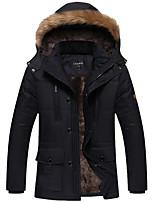 cheap -Men's Hiking Windbreaker Winter Outdoor Windproof Warm Comfortable Winter Jacket Top Cotton Single Slider Camping / Hiking / Caving Traveling Winter Sports Black / Dark Navy / Coffee / Khaki
