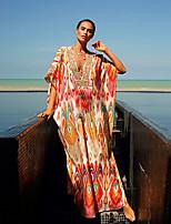 cheap -Women's Elegant Shift Dress - Color Block Rainbow One-Size