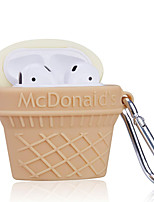 cheap -Cartoon Carabiner Ice Cream Silicone Earphone Case for Apple  Airpods 1/2  Wireless Bluetooth Headset Cover