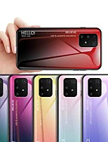cheap -Case For Samsung Galaxy S9 / S9 Plus / S8 Plus Shockproof / Dustproof / Ultra-thin Back Cover Color Gradient Tempered Glass