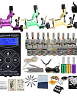 cheap -BaseKey Tattoo Machine Starter Kit - 3 pcs Tattoo Machines with 20 x 5 ml tattoo inks, Professional Aluminum Alloy LED power supply Case Not Included 18 W 3 rotary machine liner & shader