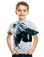 cheap -Kids Boys' Active Street chic 3D Print Short Sleeve Tee Light gray