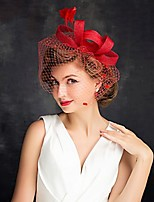 cheap -Queen Elizabeth Audrey Hepburn Retro Vintage Kentucky Derby Hat Fascinator Hat Women's Costume Hat Black / Red / Beige Vintage Cosplay Party Party Evening