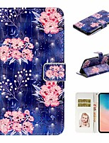 cheap -Case For Samsung Galaxy S9 / S9 Plus / S8 Plus Wallet / Card Holder / with Stand Full Body Cases Flower PU Leather For Galaxy S8/S10/S10 Plus/S10E/S7/S7 Edge