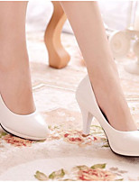 cheap -Women's Wedding Shoes Low Heel Round Toe PU Spring & Summer White