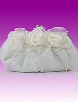 cheap -Women's / Girls' Flower / Embossed Polyester / Alloy Evening Bag Geometric Pattern White / Blushing Pink / Silver