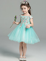 cheap -Princess Dress Girls' Movie Cosplay Cosplay Halloween Green Dress Halloween Carnival Masquerade Tulle Polyester