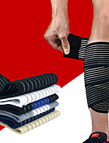 cheap -Leg Sleeves Calf Support Calf Compression Sleeves Sporty for Running Marathon Hiking Adjustable Elastic Breathable Men's Women's Cotton Fabric 1 Piece Sports Black Gray+White Bule / Black