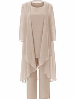 cheap -3/4 Length Sleeve Chiffon Wedding Women's Wrap With Solid Coats / Jackets