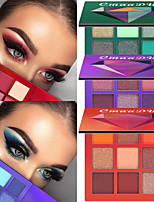 cheap -9 Colors Eyeshadow Eyeshadow Palette Matte Lady Eye Cosmetic Waterproof Matte Glow Women Glitter Shine Palette Pot gloss Long Lasting Professional Daily Makeup Halloween Makeup Party Makeup Cosmetic