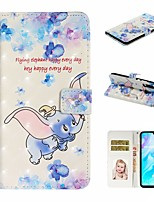 cheap -Case For Huawei P20 Pro / Huawei P20 lite / Huawei P30 Wallet / Card Holder / with Stand Full Body Cases Animal PU Leather For Huawei P30 Lite/P30 Pro/P8 Lite 2017/P10 Lite