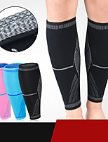 cheap -Leg Sleeves Calf Support Calf Compression Sleeves Sporty for Running Marathon Basketball Moisture Wicking Elastic Breathable Men's Women's Spandex Fabric 1 Pair Sports Black Blue Pink