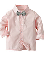 cheap -Kids Toddler Boys' Basic Street chic Solid Colored Long Sleeve Shirt Blushing Pink